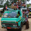 Overload truck in Myanmar — Stock Photo