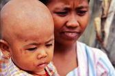 Myanmar son and mother, Monwya — Photo