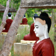Buddha's sculptures in holy garden, Myanmar — Stock Photo