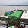 Stock Photo: Irrawaddy river crossing in Pakokku
