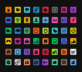 Modern color icons collection — Stock Vector