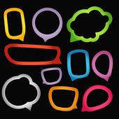 Color paper speech clouds — Stock Vector
