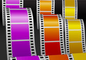 Three color bending films — Stock Vector
