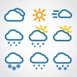 Color Weather conditon icons collection — Stock Vector