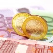 Euro banknotes and coins — Stock Photo #7971388