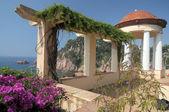 Terrace in botanic garden — Stock Photo