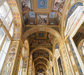 Cieling in picture gallery in Russia. — Stock Photo