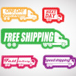Fast delivery vector stickers collection — Stock Vector