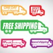 Stock Vector: Fast delivery vector stickers collection