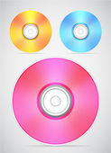 Compact disc — Stock Vector