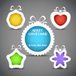 Christmas speech clouds of toys silhouettes - Imagen vectorial