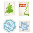 Vintage scratched post stamps woth christmas signs — Stock Vector