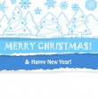 Stock Vector: Christmas greeting card