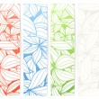 Royalty-Free Stock Vector Image: Set of vertical floral vector information banners
