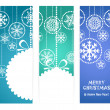 Set of vertical christmas vector banners - Stock Vector