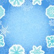 Blue Christmas greeting background — Stock Vector #8069724