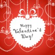 Happy Valentine day greeting card — Imagen vectorial