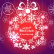 Red Christmas greeting card — Image vectorielle