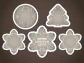 Vector vintage christmas labels — Stock Vector