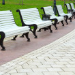 White benches — Stock Photo #8106671