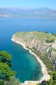 Deniz Manzaralı naphplion casstle gelen — Stok fotoğraf