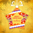 Royalty-Free Stock Vector Image: Greeting card with ornamented reindeer