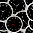 Stock vektor: Black steel modern clock