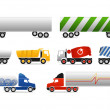 Different types of trucks — Stock Vector #8106580