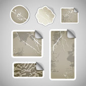 Shopping vintage scratched discount stickers — Vector de stock