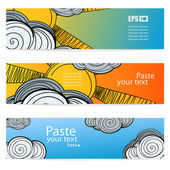 Set of weather vector information banners — Stock Vector
