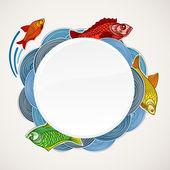 Fish vector template — Stock Vector