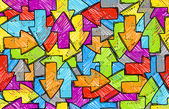 Pilen sömlös färgstarka bakgrund — Stockvektor
