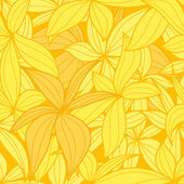 Yellow leaves seamless background — Stock Vector