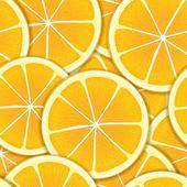 Citrus seamless background — Stock Vector