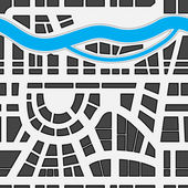 Seamless background of city map — Stock Vector