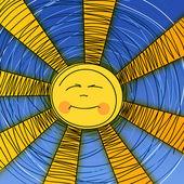 Decorative illustration of dreaming sun — Stock Vector