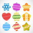 Stock Vector: Color Christmas baubles