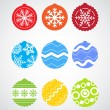 Color Christmas baubles — Stock Vector