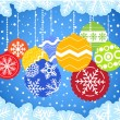 Stockvector : Color christmas baubles