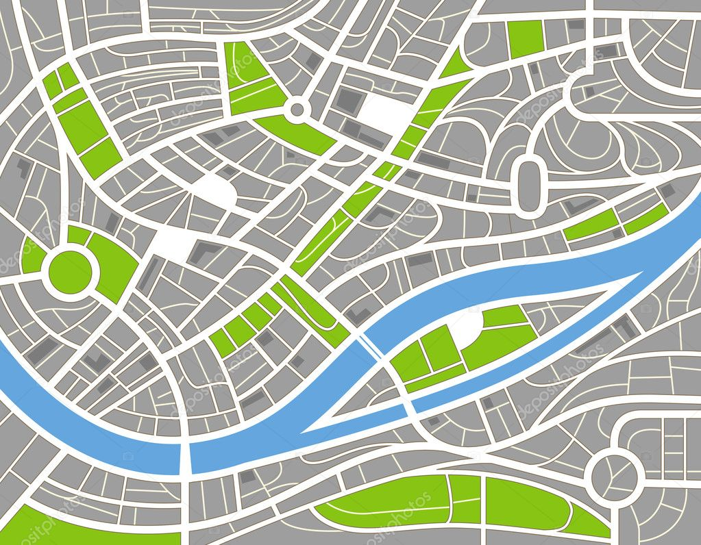 City Map Vector Free Abstract City Map Illustration