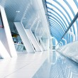 Stock Photo: Long corridor in airport