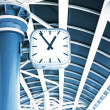 Clock on the column of transport station - Stock fotografie