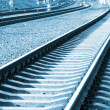 Railroad in perspective — Stock Photo