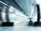 Abstract composition of motion metro escalator — Stock Photo