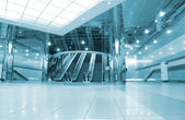Modern metro station interior — Stock Photo