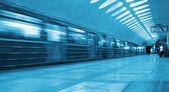 地下鉄の列車の移動 — ストック写真