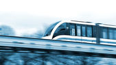 Modern speed train on a way. — Foto Stock
