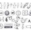 Hand-drawn arrows set — Vector de stock #8231582