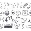 Hand-drawn arrows set — Stock Vector