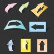 Color arrows stickers collection — Stock Vector